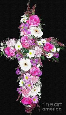 Crosses Photograph - Flower Cross  by Rose Santuci-Sofranko