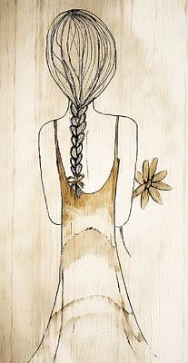 Flower Girl 3 Print by Anne Costello