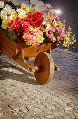 Flower Handcart Print by Carlos Caetano