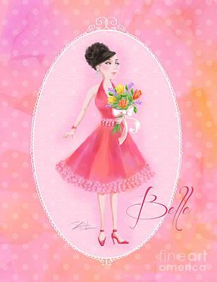 Girls Mixed Media - Flower Ladies-belle by Shari Warren