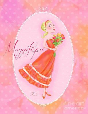 Girls Mixed Media - Flower Ladies-magnifique by Shari Warren