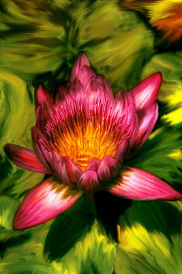 Flower - Lotus - The Lotus Blossom  Print by Mike Savad