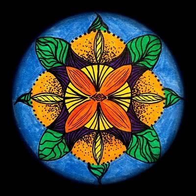 Flower Mandala Print by Mark Bray