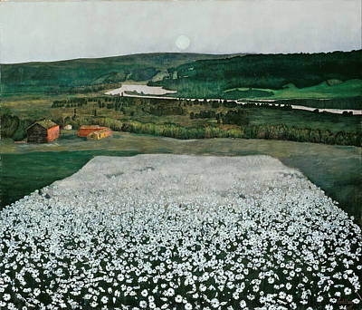 Harald Painting - Flower Meadow In The North by Harald Sohlberg