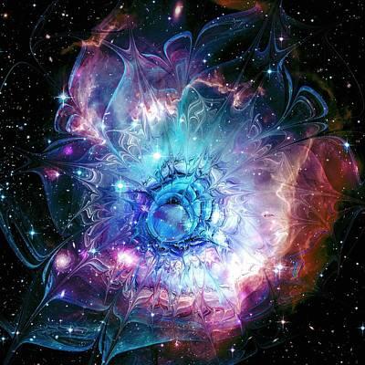 Nebula Mixed Media - Flower Nebula by Anastasiya Malakhova