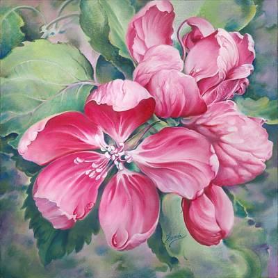 Flower Of Crab-apple Print by Anna Ewa Miarczynska