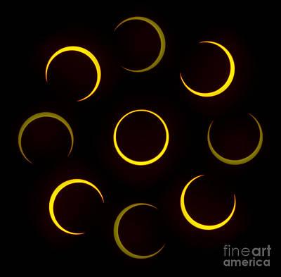 Solar Eclipse Digital Art - Flower Of Fire by Joel Loftus