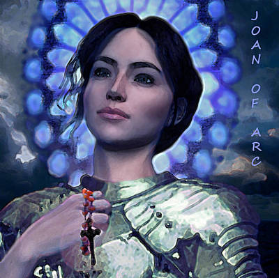 Rosary Digital Art - Joan Of Arc Flower Of France by Suzanne Silvir
