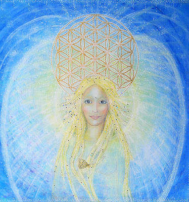 Flower Of Life Angel Print by Lila Violet