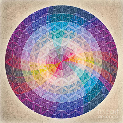 Merkaba Digital Art - Flower Of Life Mandala by Soulscapes - Healing Art