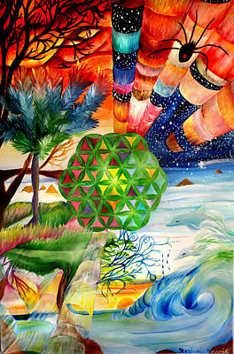 Web Of Life Painting - Flower Of Life  by Stephanie Koenig