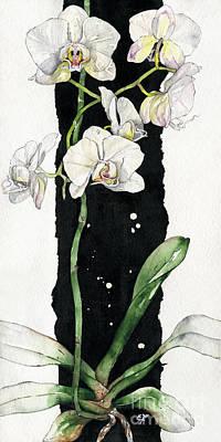 Green Painting - Flower Orchid 05 Elena Yakubovich by Elena Yakubovich