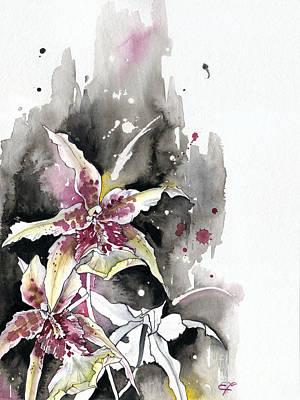 Painting - Flower Orchid 12 Elena Yakubovich by Elena Yakubovich