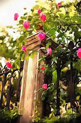 Post It Digital Art - Flower Post by Catherine Lott