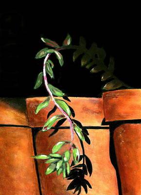 Burmese Python Painting - Flower Pots by Karyn Robinson