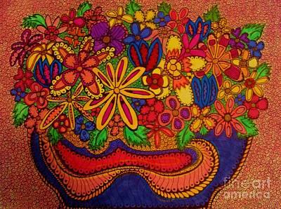 Joyful Drawing - Flower Power   by Gerri Rowan