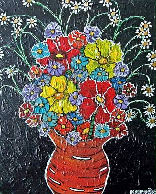Acylic Painting - Flower Power by Matthew  James