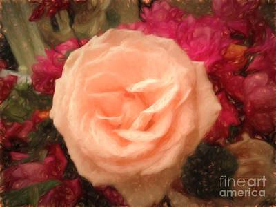 Flower - Softly Rose Joy - Luther Fine Art Print by Luther  Fine Art