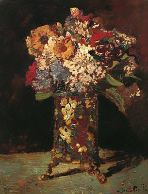 Interior Still Life Painting - Flower Still Life by Mountain Dreams