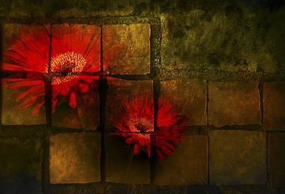 Flower Tiles Print by Michael Huddleston