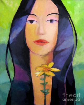 Flower Woman Print by Lutz Baar