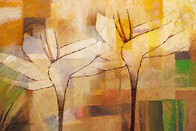 Large Painting - Flowerdance by Lutz Baar