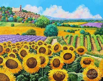 Flowered Garden Print by Jean-Marc Janiaczyk