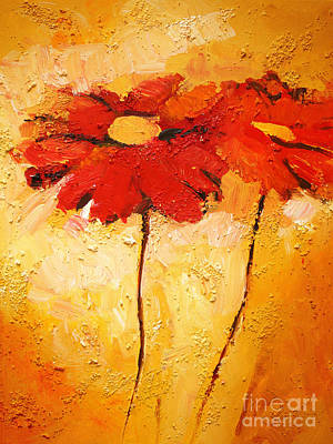 Gerbera Painting - Flowerimpression by Lutz Baar