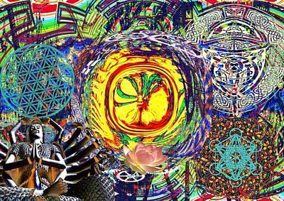 Pink Imaginary Monster Digital Art - Flowering Shiva by Jason Saunders