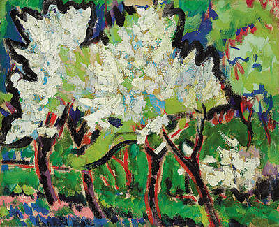 Flowering Trees Iv Print by Ernst Ludwig Kirchner