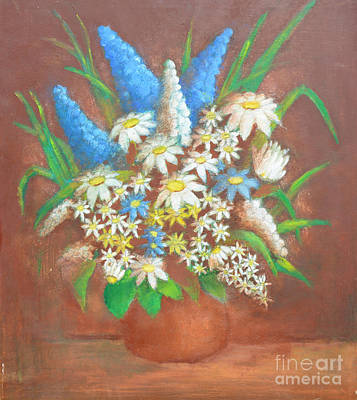 Large Painting - Flowers 2 by Mirek Bialy