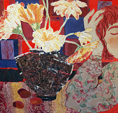 Mixed Media - Flowers And Dreams by Diane Fine
