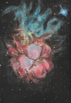 Flowers And Jellyfish Print by Vanessa Sancho