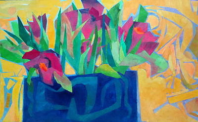 Mixed Media - Flowers And Leaves by Diane Fine