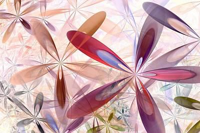 Red Flowers Digital Art - Flowers Around Me by Anastasiya Malakhova