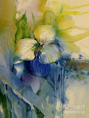 Wet On Wet Painting - Flowers by Donna Acheson-Juillet