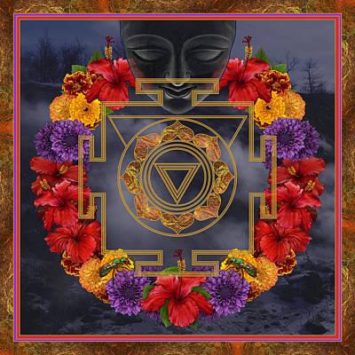 Spiritual Digital Art - Flowers For Kali Ma by Nadean OBrien
