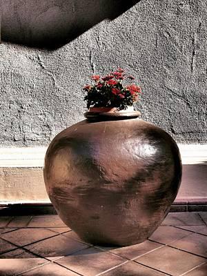 Flowers In A Pot Print by Bill Grolz