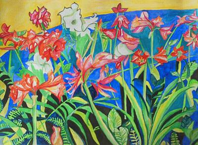 Flowers In Polyphony Original by Esther Newman-Cohen