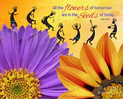Sun Rays Digital Art - Flowers Of Tomorrow by Chris Rhynas