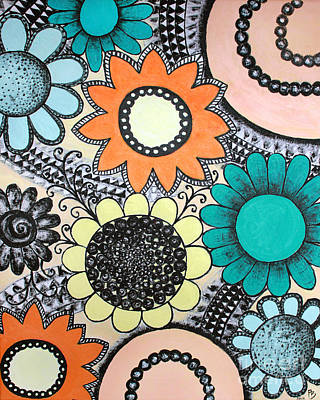 Flowers Paradise Print by Home Art