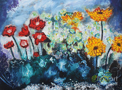 Flowers Through The Storm Print by Michael Kulick