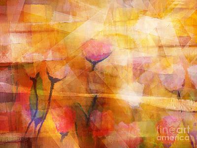 Serenade Painting - Flowerscape by Lutz Baar
