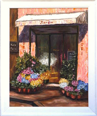 Store Fronts Painting - Flowershop by Gino Didio