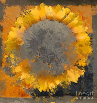 Distortion Digital Art - Flowersun - 09279gmn22b3ba13a by Variance Collections