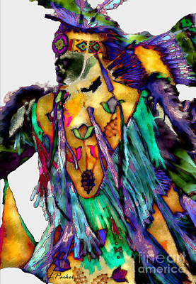Powwow Photograph - Flowing Feathers by Linda  Parker