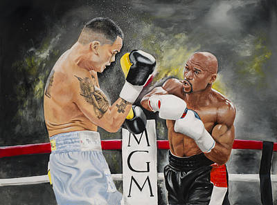 Floyd Mayweather Print by Don Medina