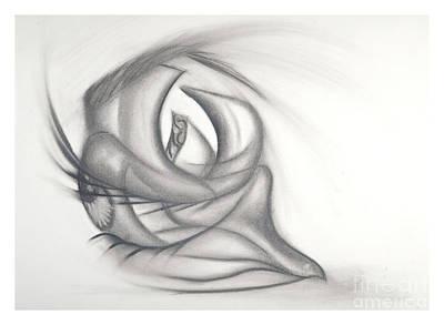 Eye Lashes Drawing - Fluid Eye by Stephanie Jaye