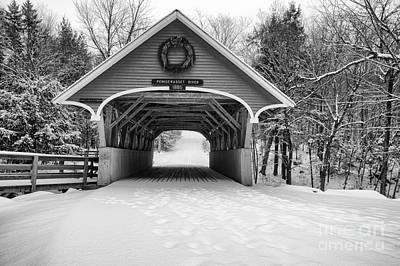 Covered Bridge Photograph - Flume Covered Bridge - White Mountains New Hampshire Usa by Erin Paul Donovan