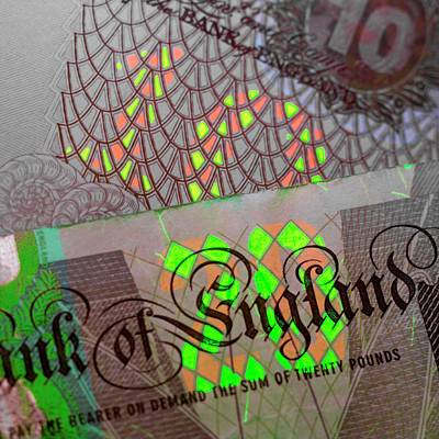 Fluorescent Banknote Printing Print by Science Photo Library